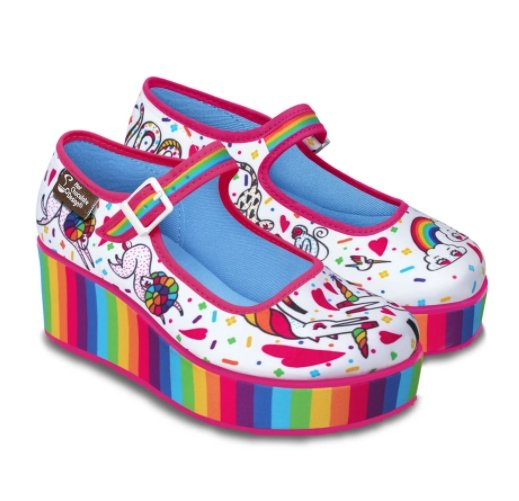 Chocolaticas® Rainbow Women's Platform - Rockamilly-Shoes-Vintage