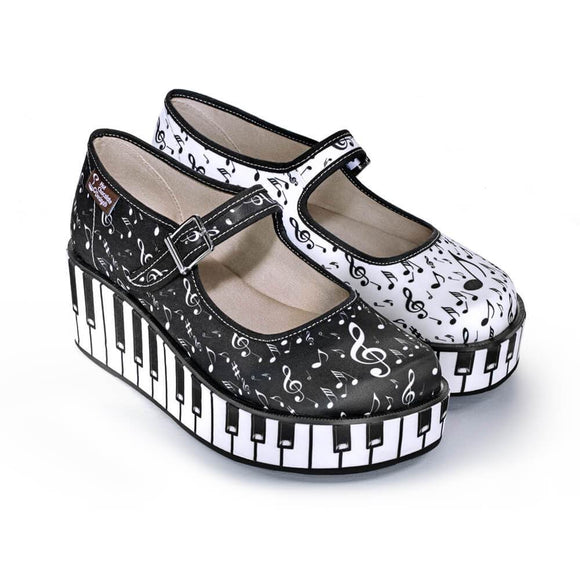 Chocolaticas® Thank You Music Mary Jane Platform - Rockamilly-Shoes-Vintage