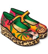 Chocolaticas® Tiki Women's Platform - Rockamilly-Shoes-Vintage