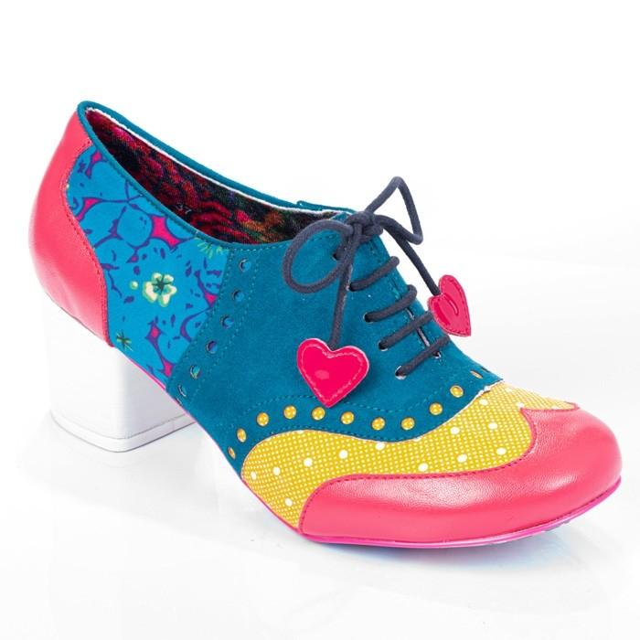Clara Bow Yellow Multi Irregular Choice - Rockamilly-Shoes-Vintage