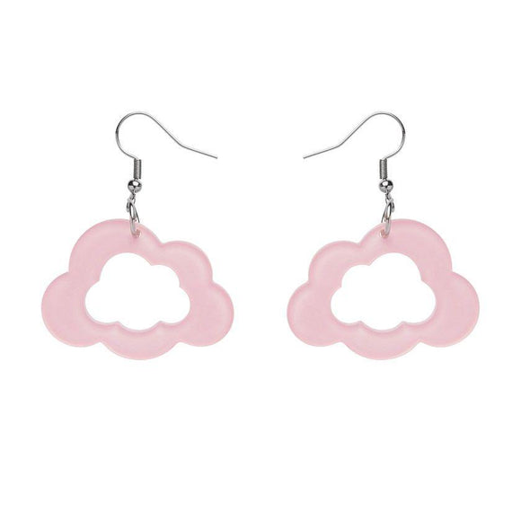 Cloud Bubble Resin Drop Earrings- Pink Erstwilder - Rockamilly-Jewellery-Vintage