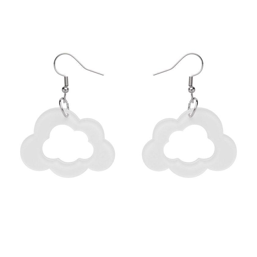 Cloud Bubble Resin Drop Earrings- White Erstwilder - Rockamilly-Jewellery-Vintage