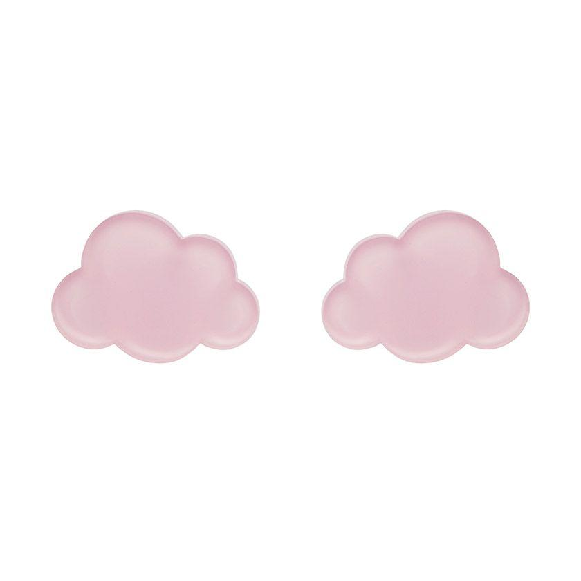 Cloud Bubble Resin Stud Earrings- Pink Erstwilder - Rockamilly-Jewellery-Vintage