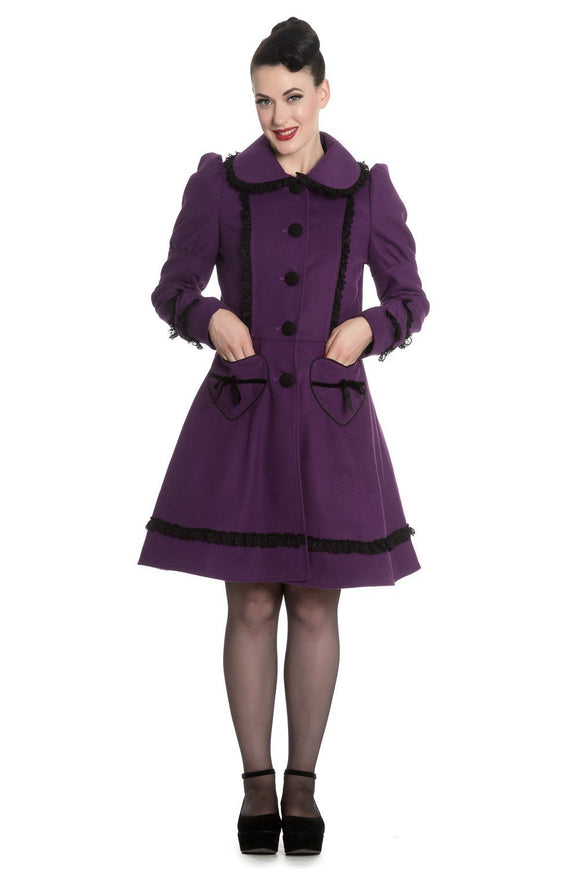 Courtney Coat Purple - Rockamilly-Jackets and Coats-Vintage