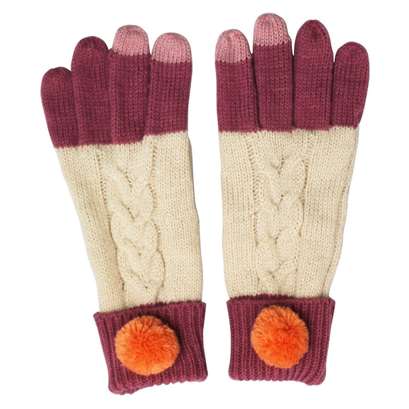 Cream Knitted Loop Gloves - Rockamilly-Accessories-Vintage