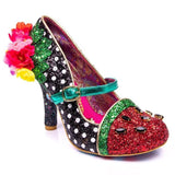 Crimson Sweet Black/Green Irregular Choice - Rockamilly-Shoes-Vintage