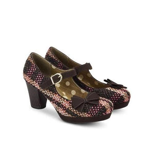 Crystal Chocolate Ruby Shoo - Rockamilly-Shoes-Vintage