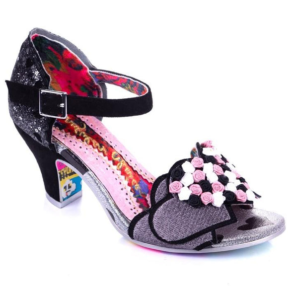 Darling Bud Black Irregular Choice - Rockamilly-Shoes-Vintage