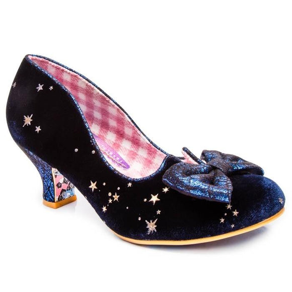 Dazzle Razzle Royal Blue Irregular Choice - Rockamilly-Shoes-Vintage
