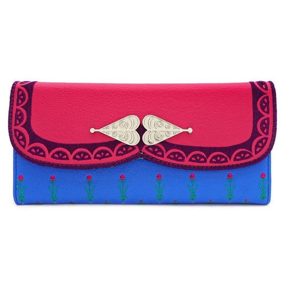 Disney Frozen Anna Trifold Wallet Loungefly - Rockamilly-Bags & Purses-Vintage