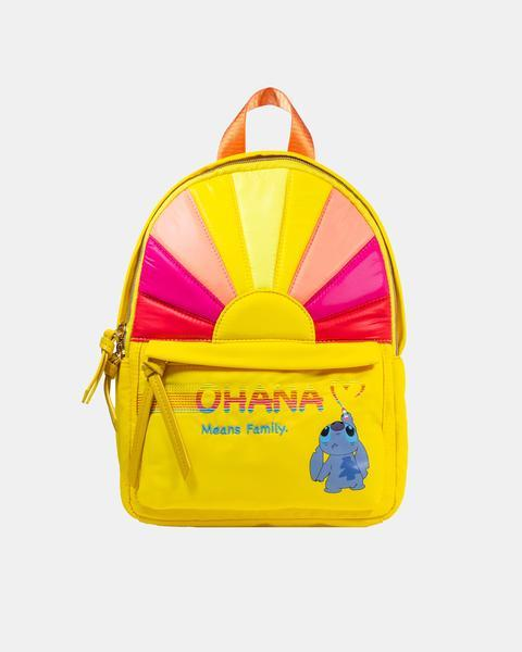 Disney Lilo & Stitch Ohana Rainbow Backpack - Rockamilly-Bags & Purses-Vintage