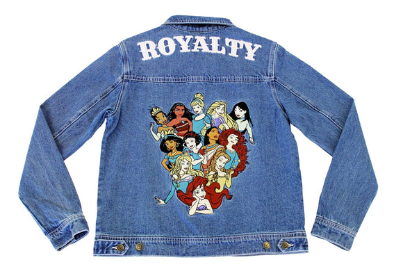 Disney Princess Anniversary Denim Jacket ~ PRE ORDER - Rockamilly-Jackets & Coats-Vintage