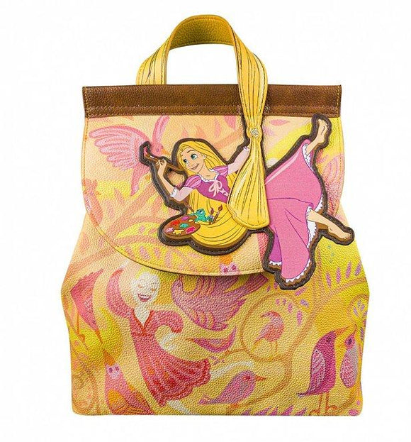 Disney Rapunzel Painting Tangled Backpack - Rockamilly-Bags & Purses-Vintage