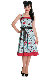 Dixie Rock Chic 50s Dress Hell Bunny - Rockamilly-Dresses-Vintage