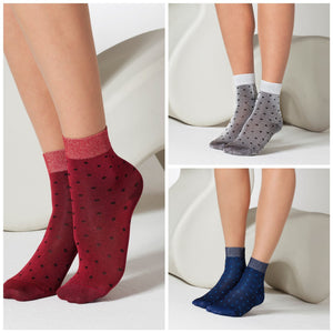 Dotty Snug Ankle Socks - Rockamilly-Hosiery-Vintage