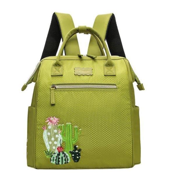 Easy Going Cactus Backpack in Green - Rockamilly-Bags & Purses-Vintage