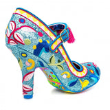 Ekaterina Blue High Heel - Rockamilly-Shoes-Vintage