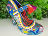 Ekaterina Blue Irregular Choice - Rockamilly-Shoes-Vintage