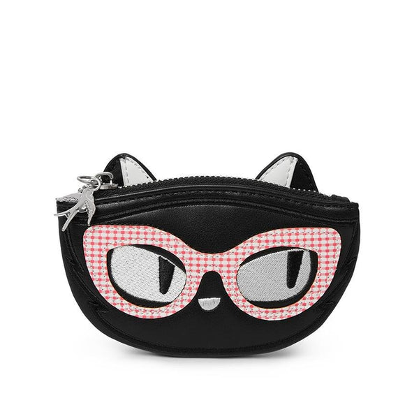 Elissa The Indie Cat Coin Purse - Rockamilly-Bags & Purses-Vintage
