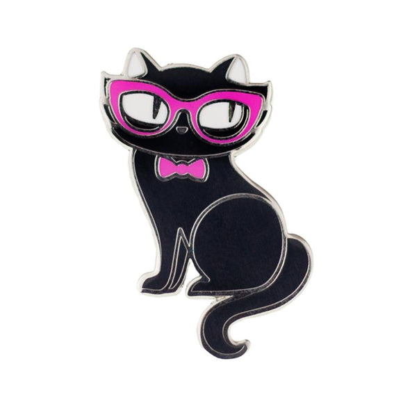 Elissa the Indie Cat Enamel Pin - Rockamilly-Jewellery-Vintage