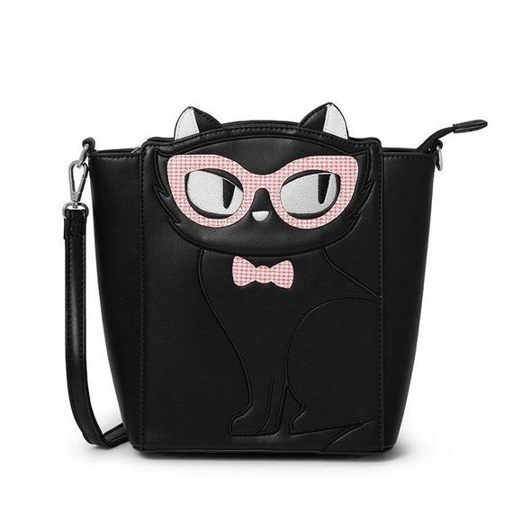 Elissa The Indie Cat Tote Bag - Rockamilly-Bags & Purses-Vintage