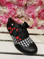 End of Story Blk/Red Irregular Choice - Rockamilly-Shoes-Vintage