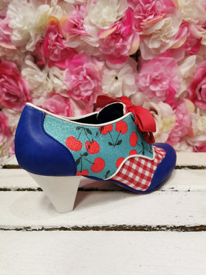 End of Story Blue Check Irregular Choice - Rockamilly-Shoes-Vintage