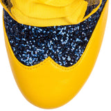 End of Story Yellow/Blue - Rockamilly-Shoes-Vintage