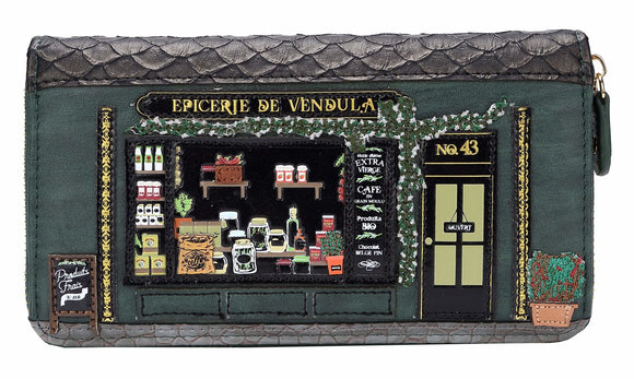 Epicerie De Vendula Large Zip Around Wallet - Rockamilly-Bags & Purses-Vintage