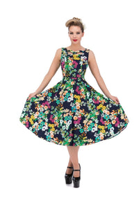 Eternal Floral Day Dress - Rockamilly-Dresses-Vintage