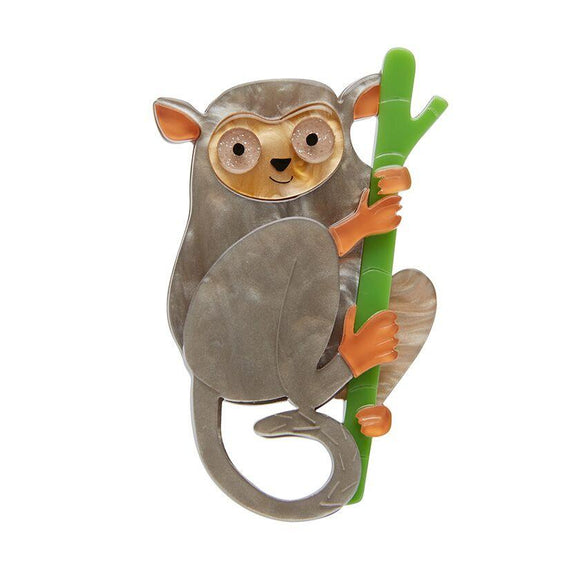 Eyes Wide Open Tarsier Brooch - Rockamilly-Jewellery-Vintage