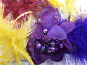 Feather Hair Fascinator Assorted - Rockamilly-Accessories-Vintage