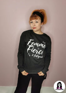 'Femme, Fierce & Fatigued' Sweatshirt - Rockamilly-Knitwear-Vintage