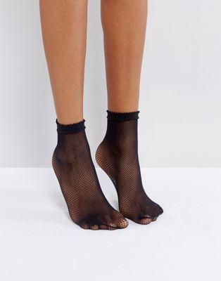 Fishnet Ankle Socks - Rockamilly-Hosiery-Vintage