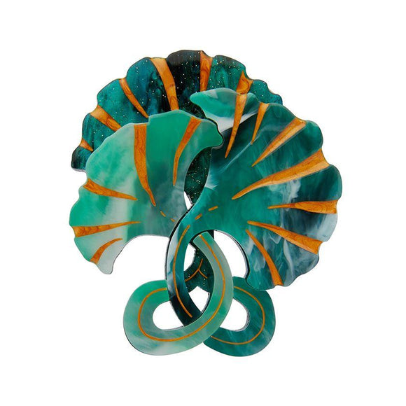 Floret Fronds Brooch Erstwilder - Rockamilly-Accessories-Vintage