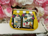 Flower Shop Clipper Coin Purse Vendula - Rockamilly-Bags & Purses-Vintage