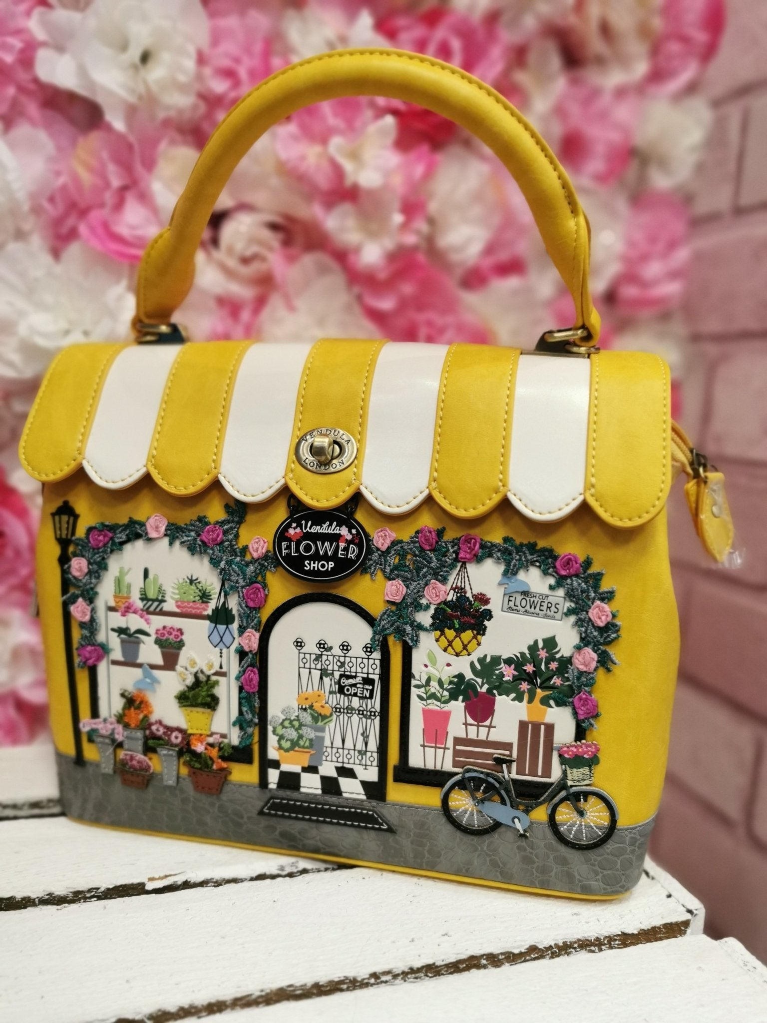 Flower Shop Grace Bag Vendula - Rockamilly-Bags & Purses-Vintage