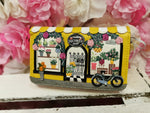 Flower Shop Medium Ziparound Wallet Vendula - Rockamilly-Bags & Purses-Vintage