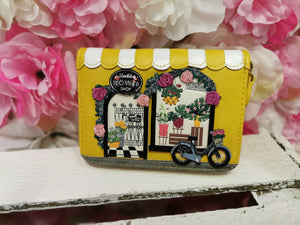 Flower Shop Small Ziparound Wallet Vendula - Rockamilly-Bags & Purses-Vintage