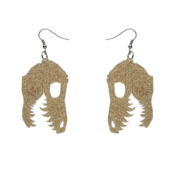 Fossil Glitter Resin Drop Earrings - Gold - Rockamilly-Jewellery-Vintage