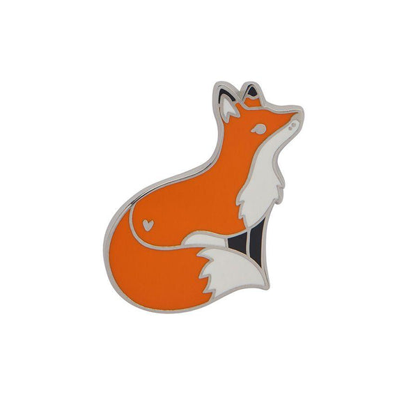 Furtive Fox Enamel Pin Erstwilder - Rockamilly-Accessories-Vintage
