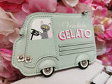 Gelato Truck Zipper Coin Purse Vendula - Rockamilly-Bags & Purses-Vintage
