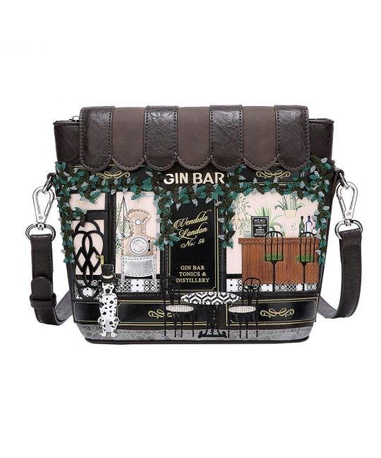 Gin Bar Crossbody Bag - Rockamilly-Bags & Purses-Vintage