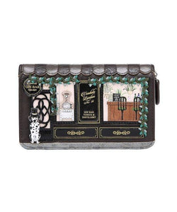 Gin Bar Medium Ziparound Wallet - Rockamilly-Bags & Purses-Vintage