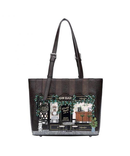 Gin Bar Shopper Bag - Rockamilly-Bags & Purses-Vintage