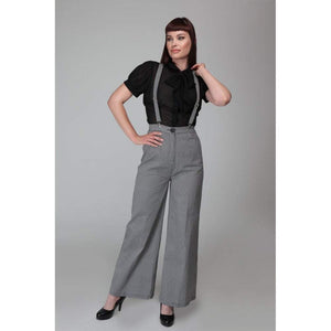 Glinda Houndstooth Trousers - Rockamilly-Bottoms-Vintage