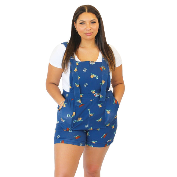 Grogu Shorts Overalls ~ PRE ORDER - Rockamilly-Shorts & Skirts-Vintage
