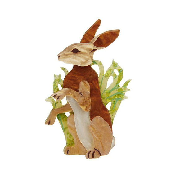 Habitual Hare Brooch Erstwilder - Rockamilly-Accessories-Vintage