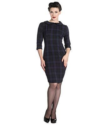 Hamilton Tartan Pencil Dress - Rockamilly-Dresses-Vintage