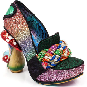 Hazel Corntree Green Fairy Toadstool Collection Irregular Choice Character Heels - Rockamilly-Shoes-Vintage
